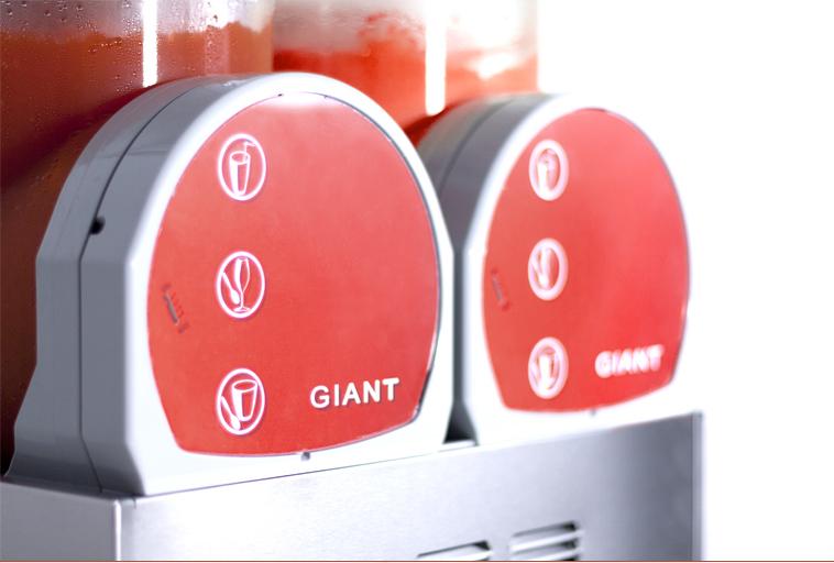 Equipo de gran formato para granizados GIANT de Ugolini.