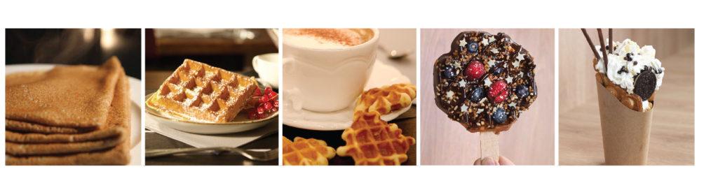 Crepes, gofres, galettes, piruletas y bubble waffles con equipos profesionales Krampouz
