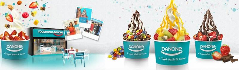 Yogurt helado o helado soft de Danone.
